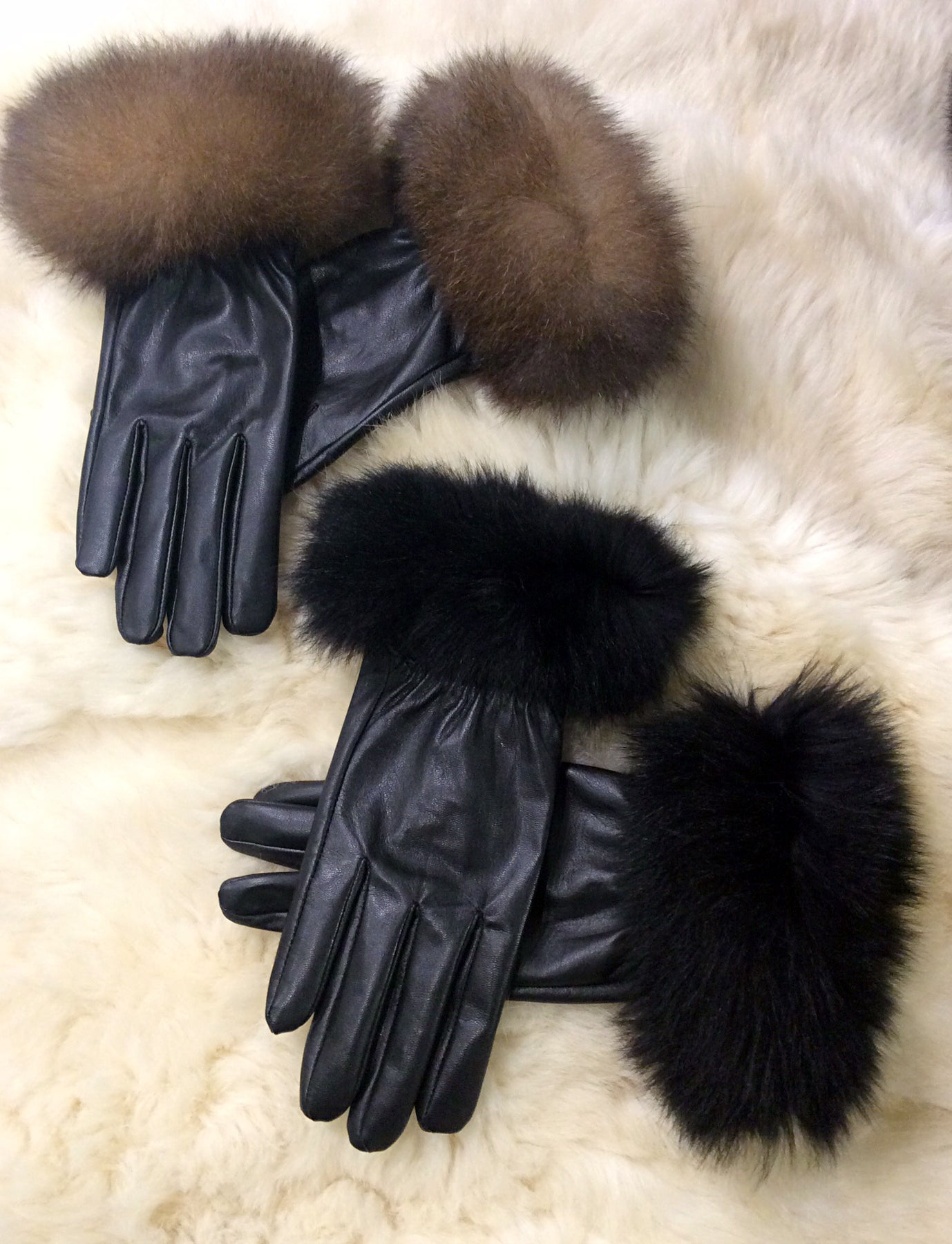 Leather Gloves O-Cuff