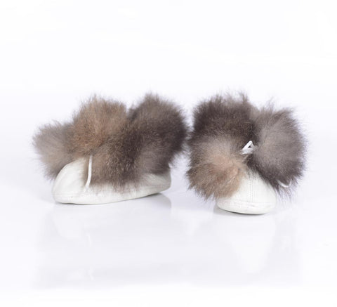 Possum Fur Leather Baby Booties