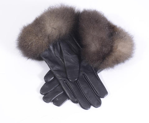 New Zealand Possum Fur and Sheep leather gloves.