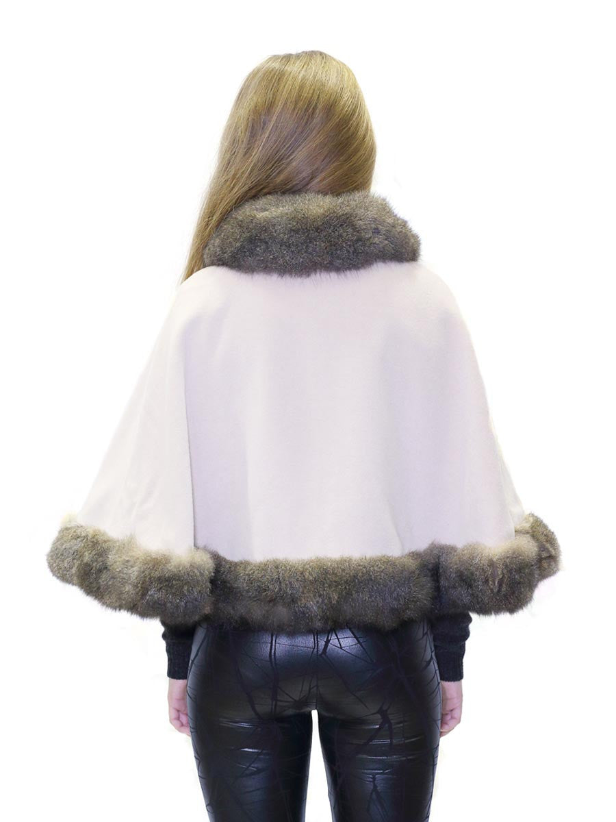 Fur Lined Woollen Cape