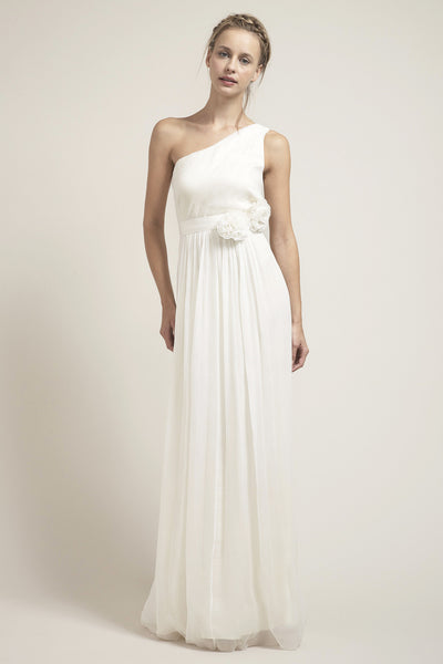 Grecian Wedding Dress.Hb6225 Grecian One Shoulder Wedding Dress
