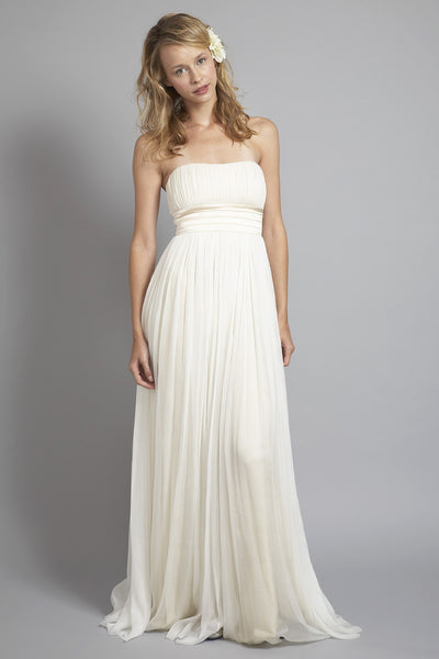 HB6764 Grecian Strapless Wedding Dress
