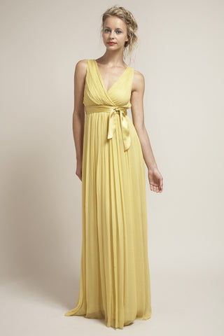 M-DU6556 Long Grecian Bridesmaid Dress