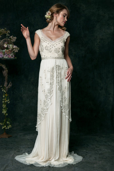 QK6300 Decadent Beaded Wedding Dress