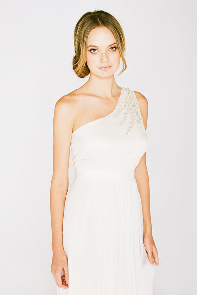 RC6225 Grecian One Shoulder Wedding Dress