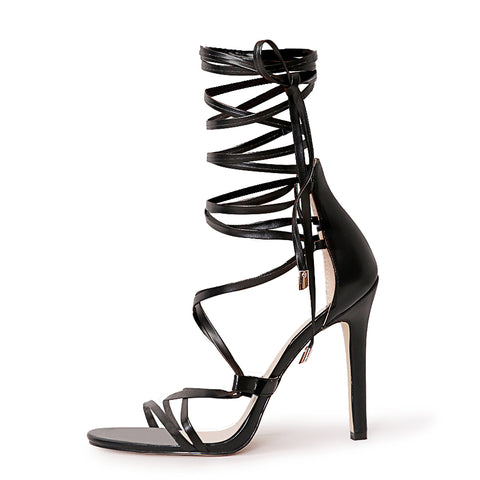Lace up High Heels Gladiator Stiletto Sandals