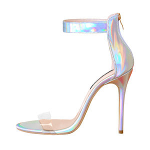 Ankle Strap Colorful Open Toe High Heel Sandals