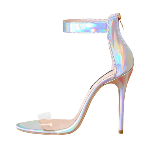 Onlymaker Ankle Strap Coloful Open Toe High Heel Sandals