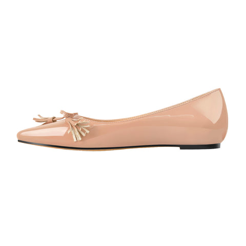 Baby Pink Patent Leather Flat pumps