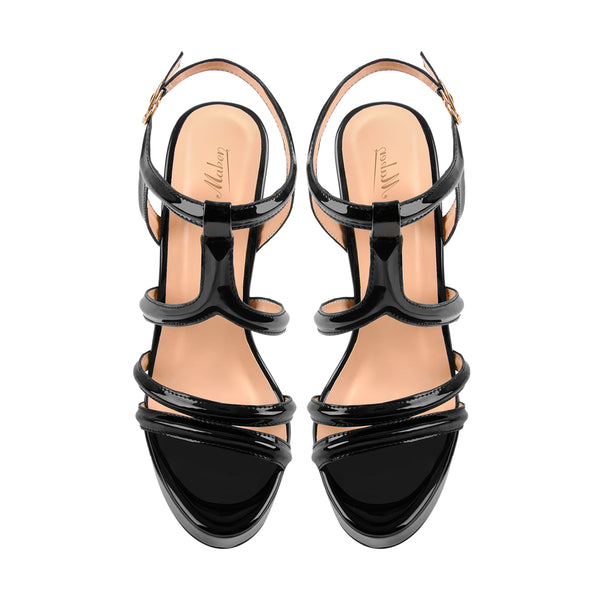 Platform Stilettos Open Toe Ankle Strap Crisscross Sandals