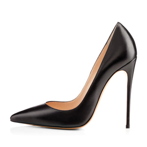 8cm 10cm 12 cm Matte Pointed Toe Slip On High Heel Pumps