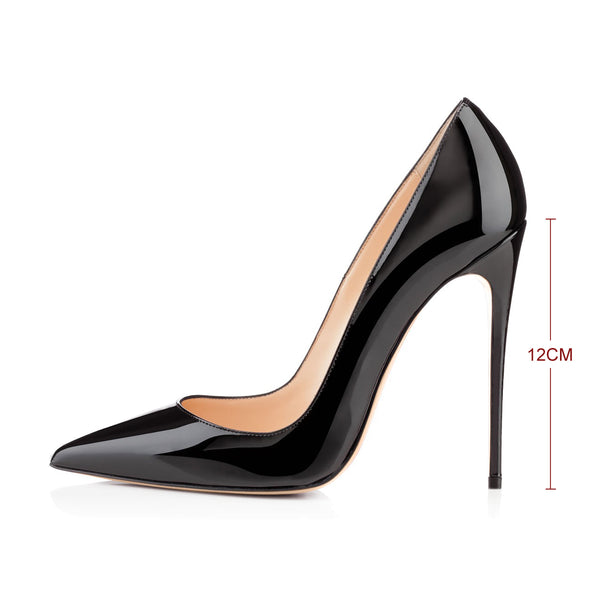 Pointed Toe Slip On High Heel Pumps