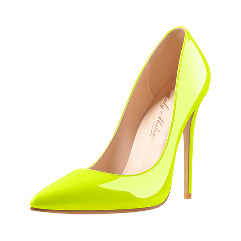 Yellow Pointed Toe Pumps Classic Stilettos