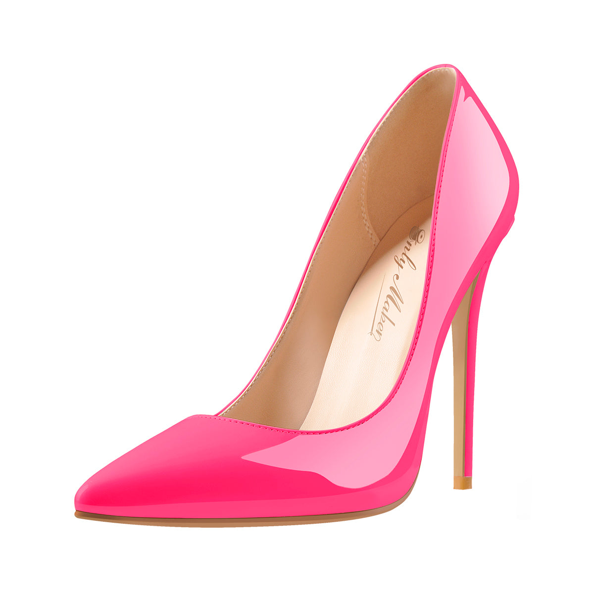 8cm 10cm 12 cm Rose Red Pointed Toe Slip On High Heel Pumps