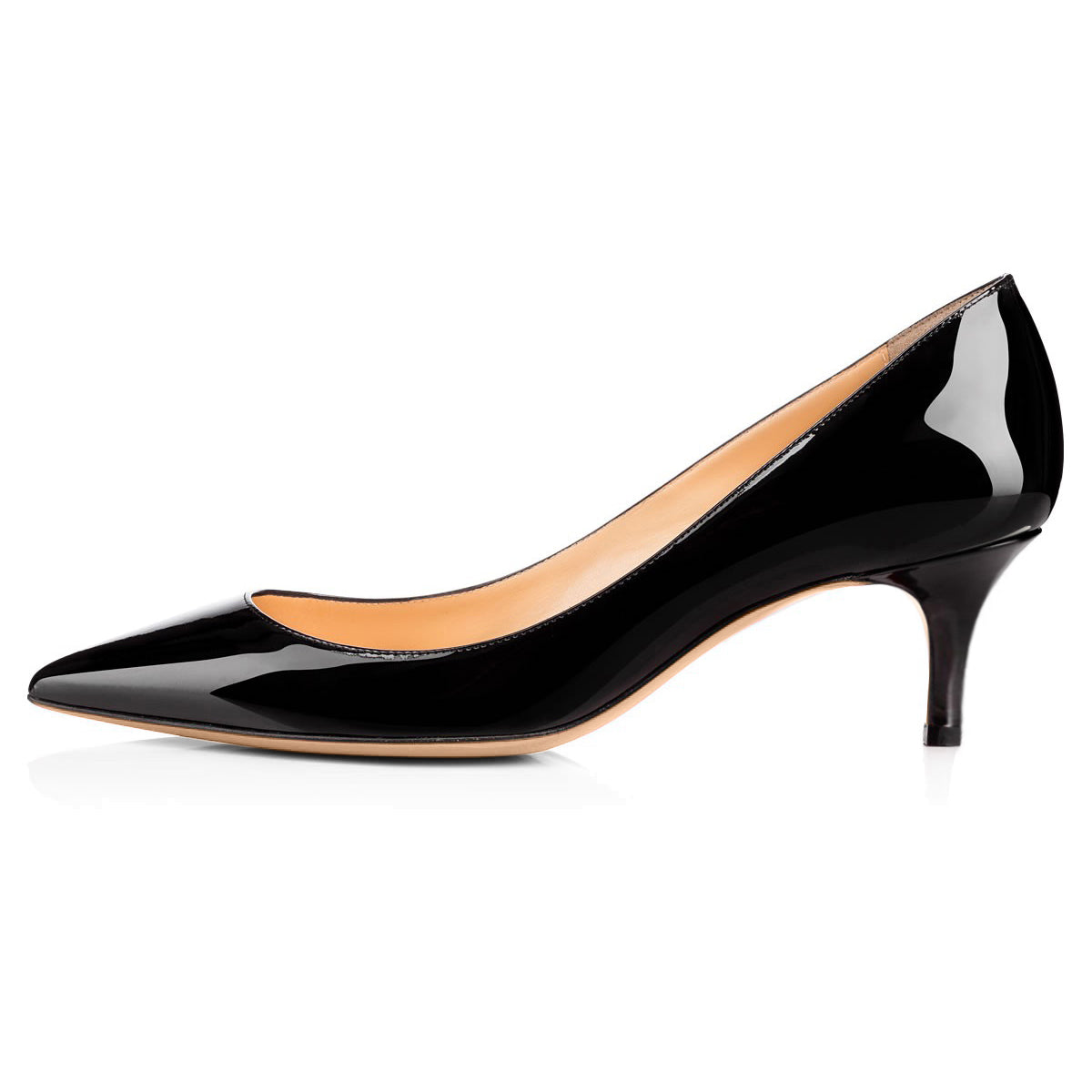 Pointed Toe Slip On 2.5inches(6.5CM) High Heel Pumps