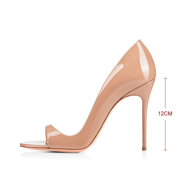 Open Toe Side Cut Stiletto High Heel Sandals