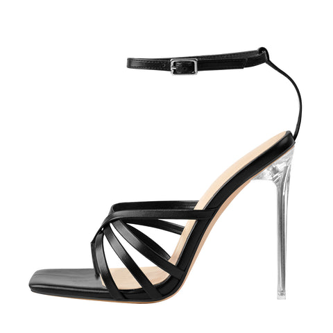 Ankle Buckle Strap Stiletto High Heel Sandals