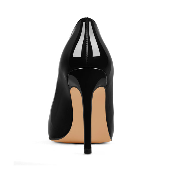 Patent Black Pointed Toe High Heel Stiletto Pumps