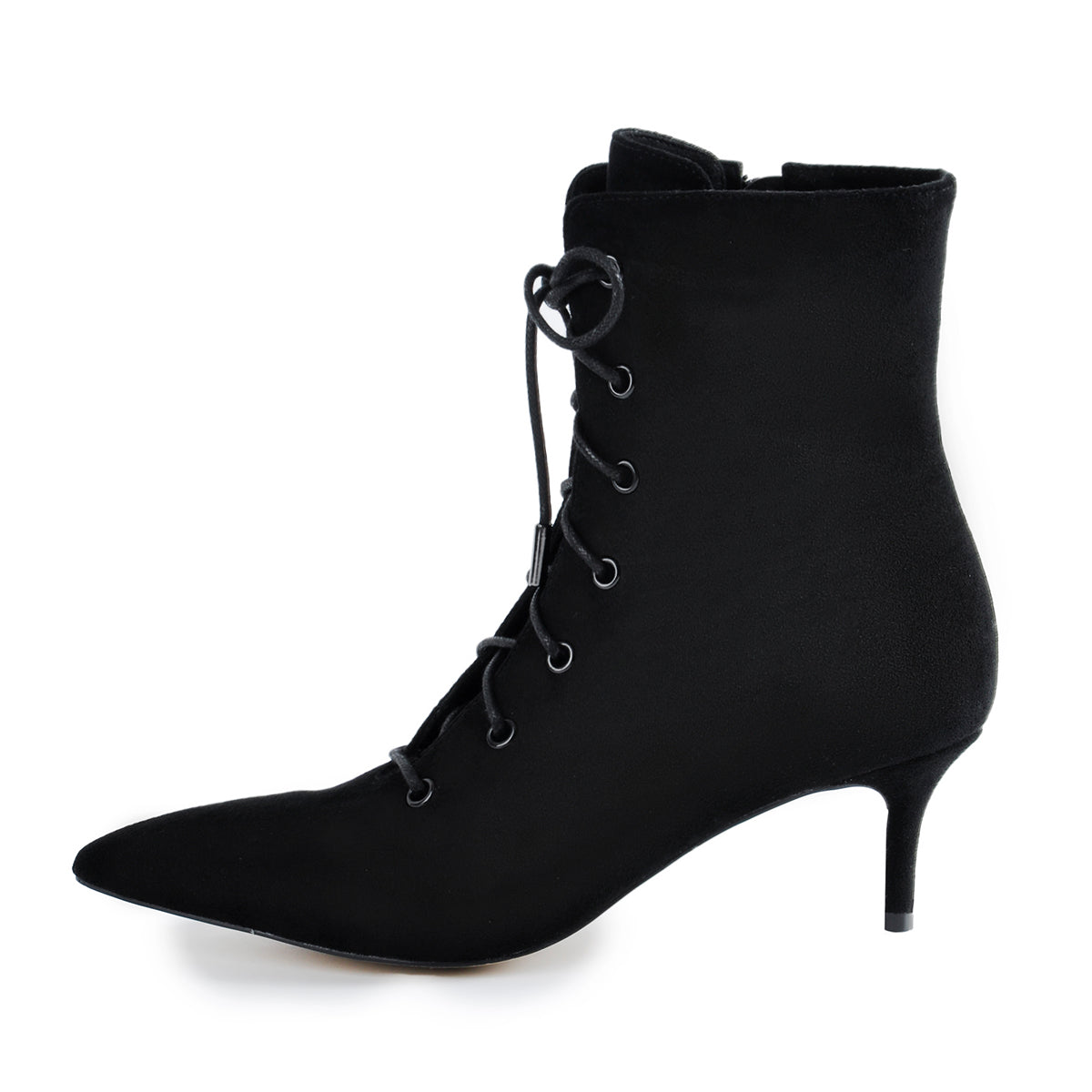 Kitten Low Heel Pointed Toe Lace Up