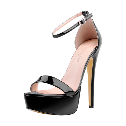 onlymaker Women's Sexy Ankle Strap Stiletto Sandals