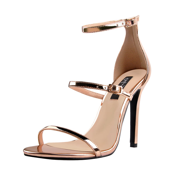onlymaker Women's Ankle Strap Stiletto Open Toe Sandals