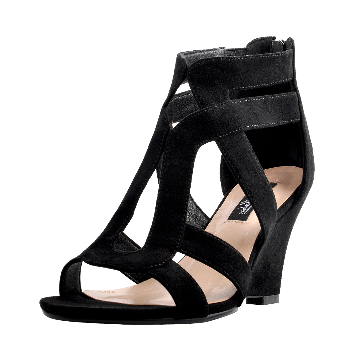 Gladiator Cut Out Peep Toe Wedge Sandals
