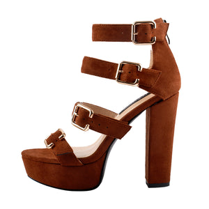 Platform Chunky High Heel Ankle Strap Sandals