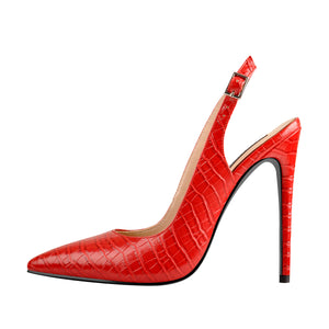 Red Pointed Toe High Heel Sandals Pumps