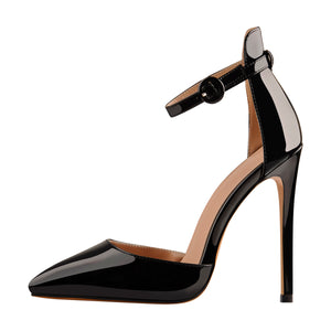 Pointed Toe Ankle Strap Stiletto High Heels Sandals