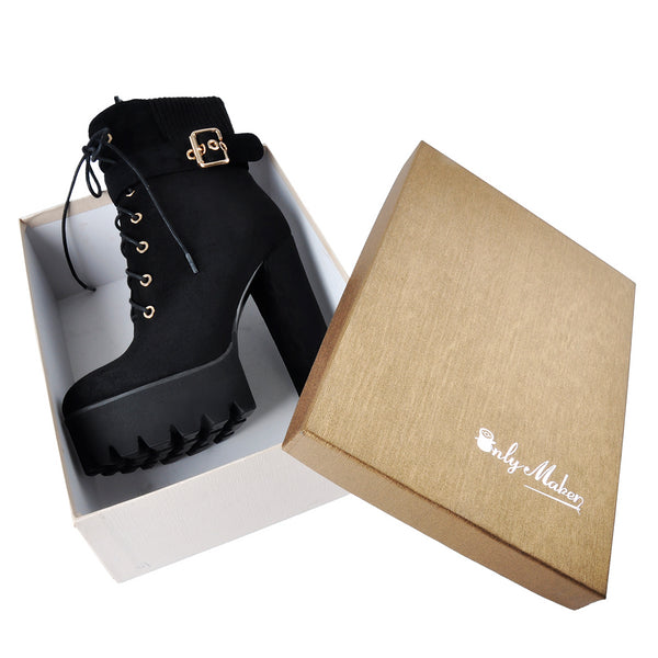onlymaker Ankle Boots for Women Heel