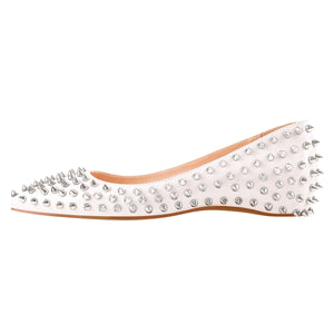 White Rivets Flat pumps
