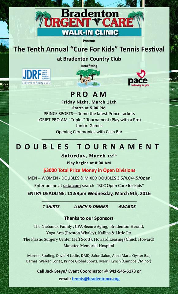 10th Annual Cure for Kids Tennis Festival