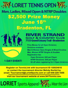 Loriet Open @ River Strand Golf & Country Club presented by the Griffin Tennis League