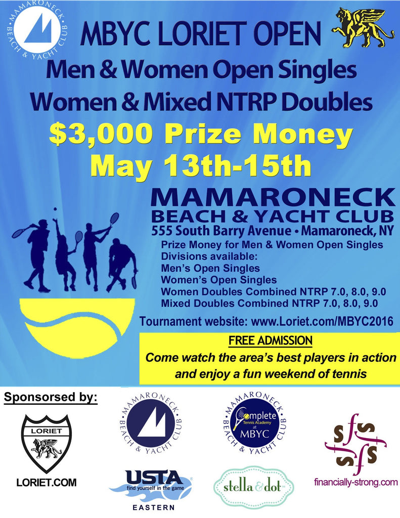 $3,000 USTA TOURNAMENT BY LORIET ACTIVEWEAR  MAY 13 - 15, 2016