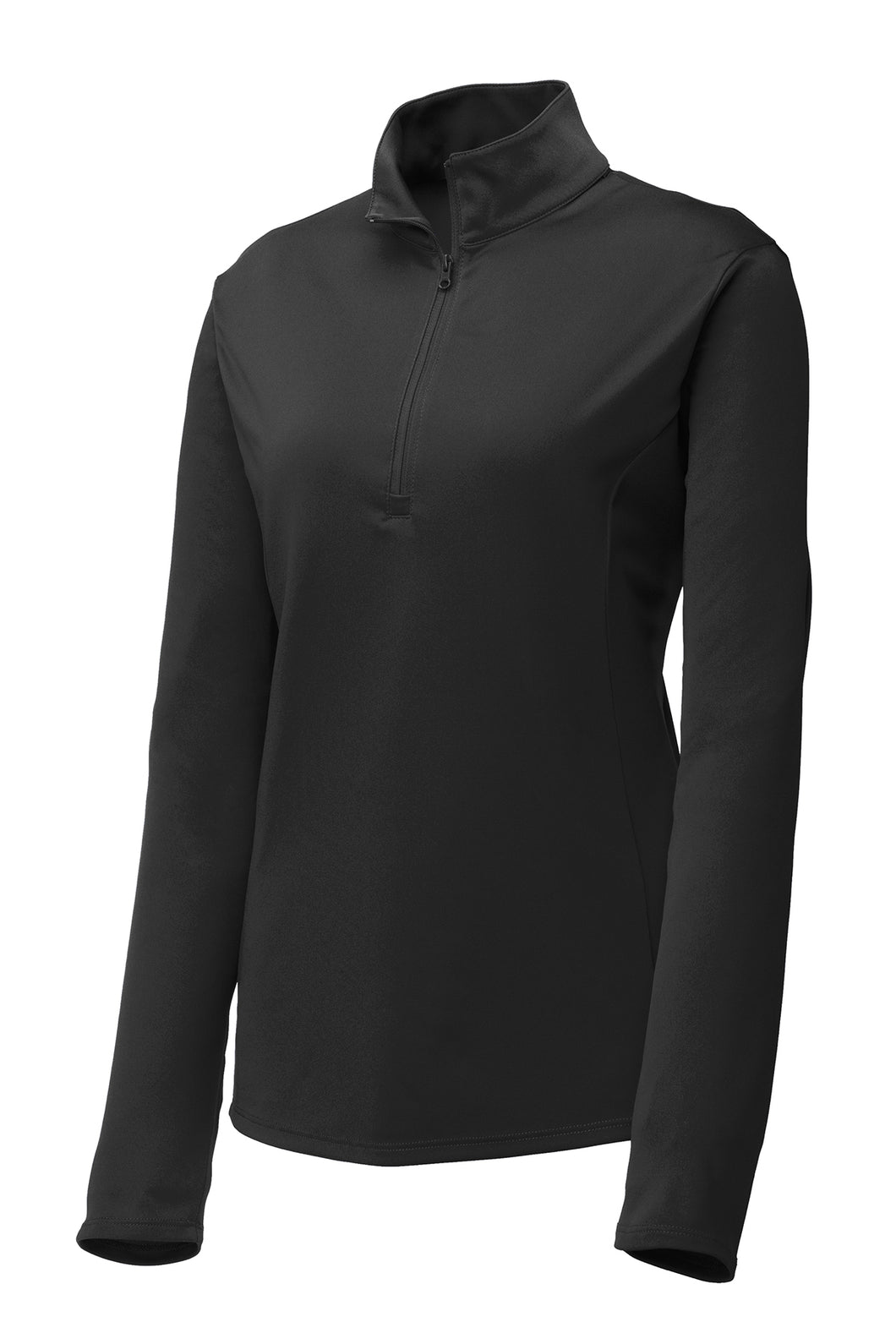 Ladies Quarter-zip Comfort Performance Pullover - Black