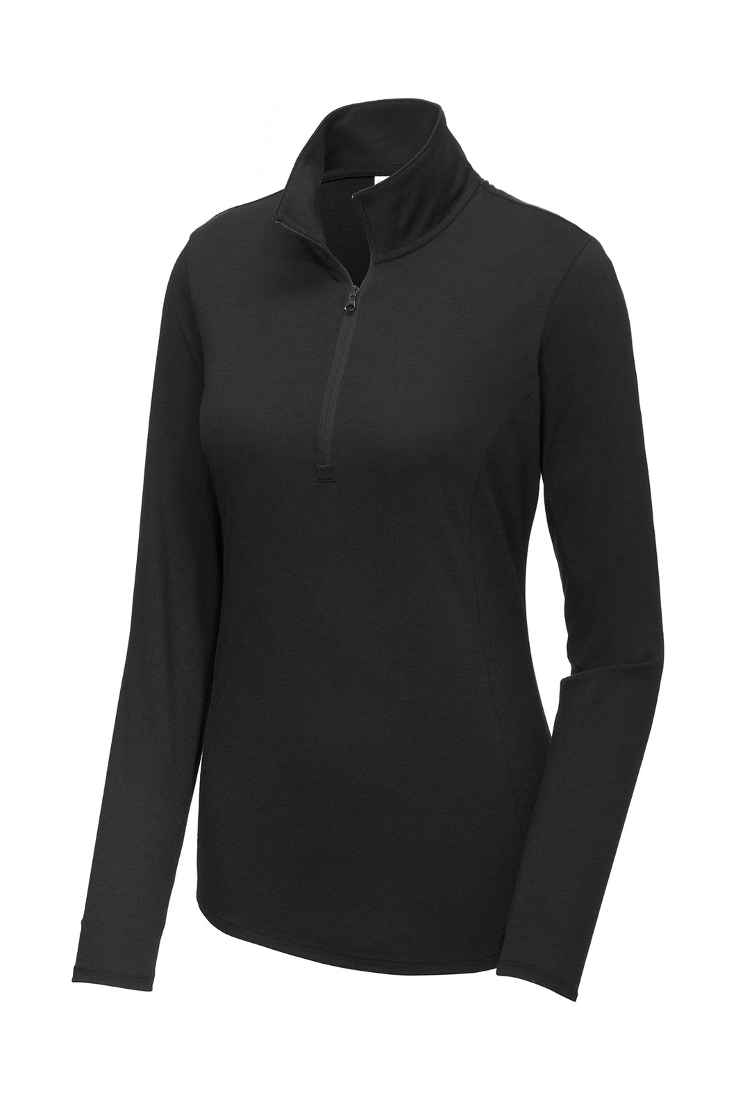Ladies Fusion Performance Quarter-zip Pullover - Black