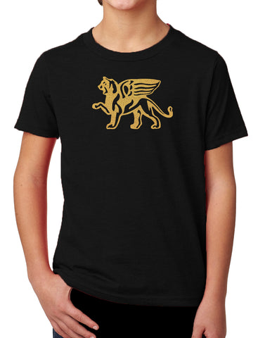 Boys Comfort Gold Lion Tee - Loriet Activewear