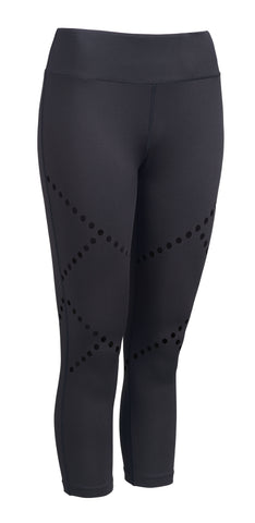 Cross Train Performance Capri Leggings - Black - Loriet Activewear