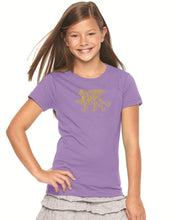 Load image into Gallery viewer, Girls Gold Lion Comfort Tee - Loriet Activewear