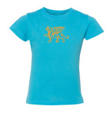 Girls Gold Lion Comfort Tee - Loriet Activewear