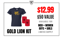 Load image into Gallery viewer, Gold Lion Kit - Girls - Loriet Activewear