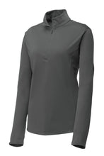 Load image into Gallery viewer, Ladies Quarter-zip Comfort Performance Pullover - Graphite