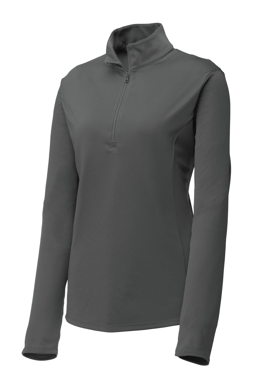 Ladies Quarter-zip Comfort Performance Pullover - Graphite