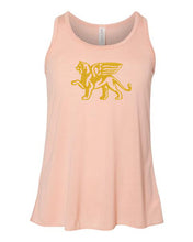 Load image into Gallery viewer, Girls Gold Lion Racerback Tank Top - Loriet Activewear