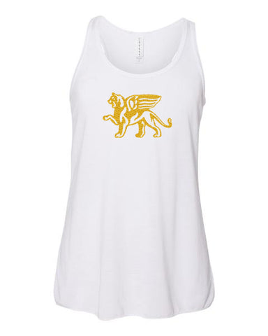 Girls Gold Lion Racerback Tank Top - Loriet Activewear