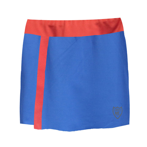 London Performance Skort - Blue/Red - Loriet Activewear