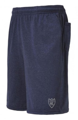Heather Pro Performance Shorts - Navy - Loriet Activewear