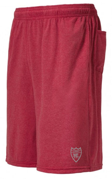 Heather Pro Performance Shorts - Red - Loriet Activewear