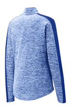 Load image into Gallery viewer, Ladies Laser Performance Quarter-zip - Royal
