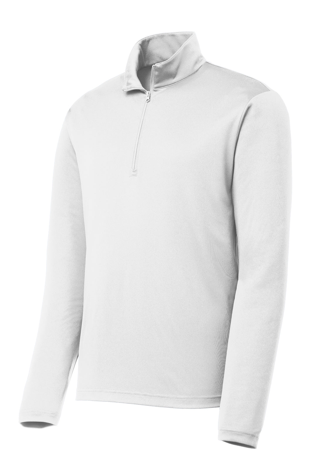 Quarter-zip Comfort Performance Pullover - White